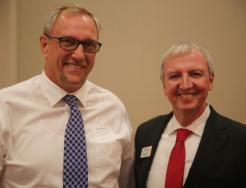 Principal Thompson with P-H-M Supt. Dr. Jerry Thacker