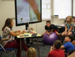 Mrs. Lenski teaching her 5th grade class