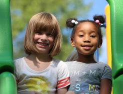 Smiling Kids on playground