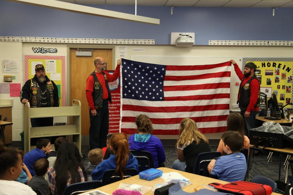 Veterans Visit Bittersweet Fifth Graders