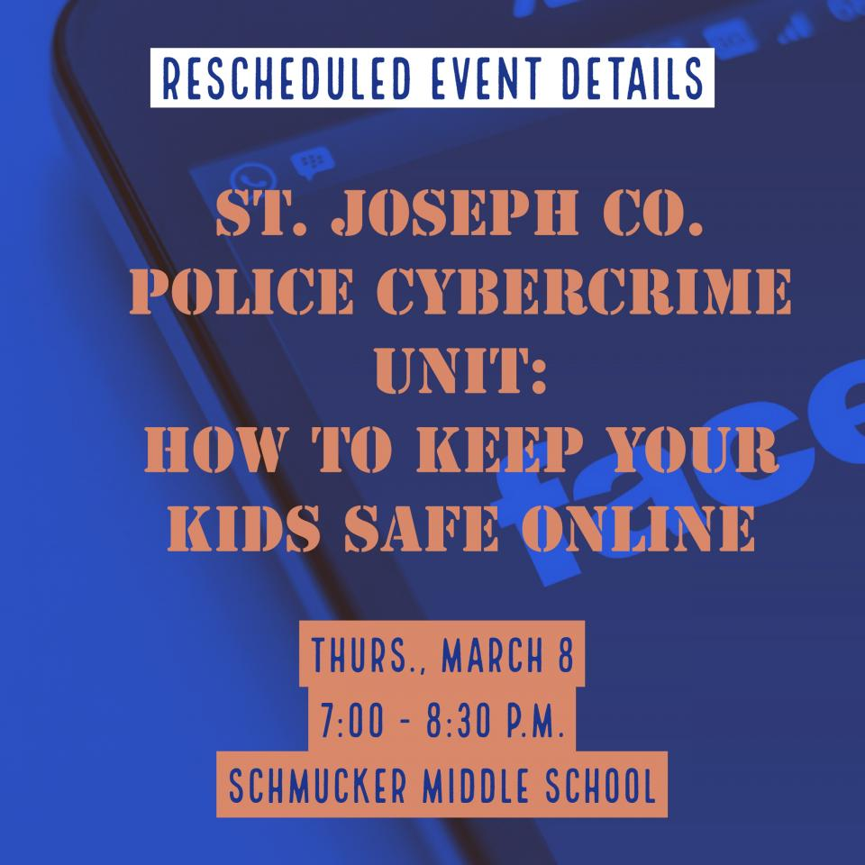 Event rescheduled for Thurs., March 8, 7:00-8:30 p.m.