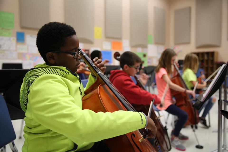 Grissom orchestra students