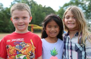 Students enjoying recess