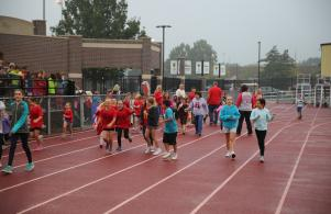 Bittersweet students participate in the Bobcat Blitz walk-a-thon
