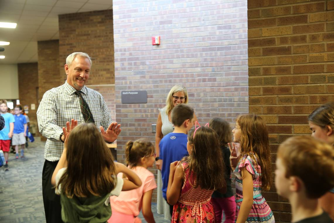 Bittersweet Principal Bob Thompson & students